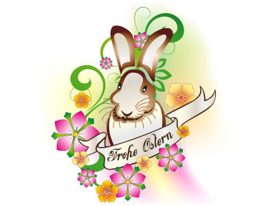 Frohe Ostern free vector download